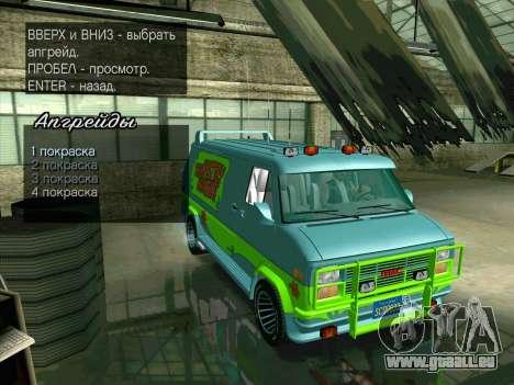 GMC The A-Team Van pour GTA San Andreas vue de dessus