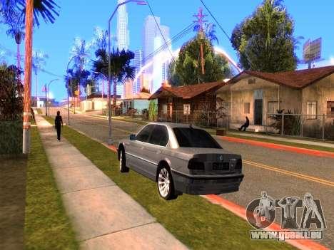 BMW 740i BL pour GTA San Andreas sur la vue arrière gauche