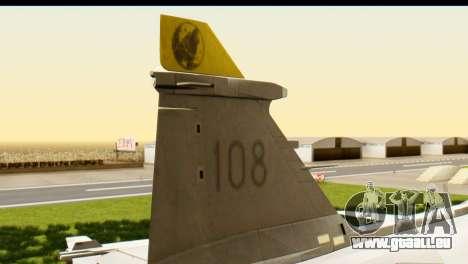 Saab Gripen NG pour GTA San Andreas sur la vue arrière gauche
