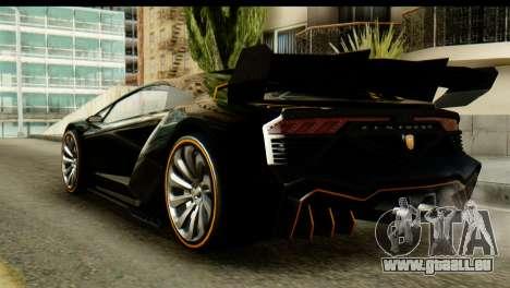 GTA 5 Pegassi Zentorno v2 SA Mobile pour GTA San Andreas laissé vue