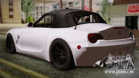 BMW Z4 V10 IVF pour GTA San Andreas laissé vue