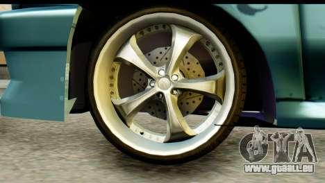Ford Festiva Tuning pour GTA San Andreas sur la vue arrière gauche