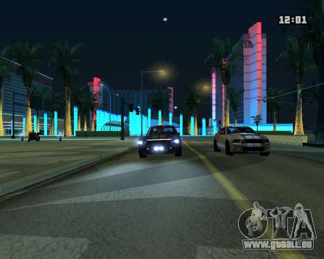Shelby GT500 Eleanor für GTA San Andreas Rückansicht