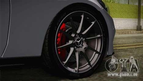 Mercedes-Benz C250 AMG Edition 2014 EU Plate pour GTA San Andreas sur la vue arrière gauche