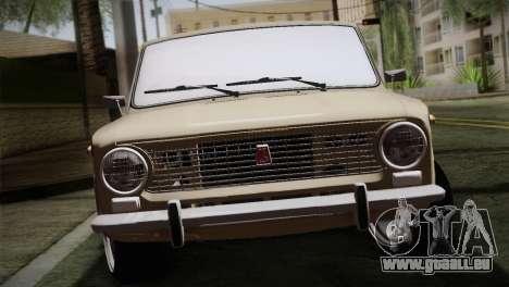 ВАЗ 2101 Zugeschlagen Orange für GTA San Andreas Rückansicht