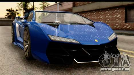 GTA 5 Pegassi Zentorno v2 für GTA San Andreas