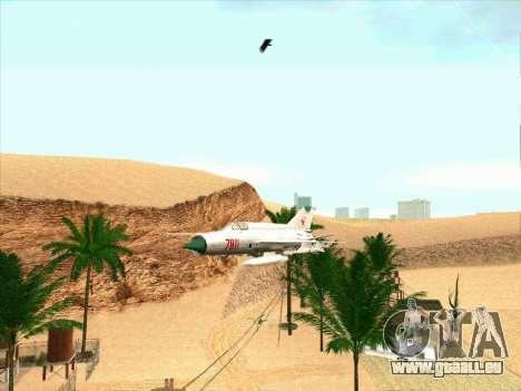 MiG 21 für GTA San Andreas linke Ansicht