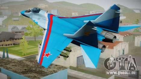 MIG-29 Russian Falcon pour GTA San Andreas laissé vue