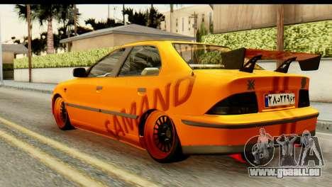 Ikco Samand Tuning pour GTA San Andreas laissé vue