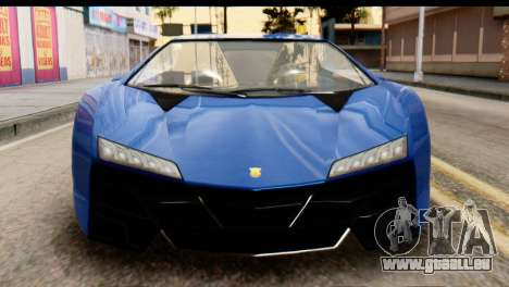 GTA 5 Pegassi Zentorno v2 für GTA San Andreas Innenansicht