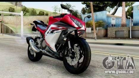 Kawasaki Ninja 250 Fi pour GTA San Andreas vue arrière