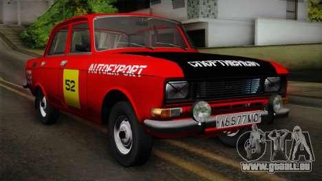 АЗЛК 412 UdSSR Autosport für GTA San Andreas