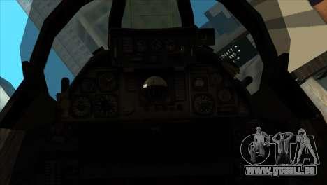 F-14 Black Storm pour GTA San Andreas vue arrière