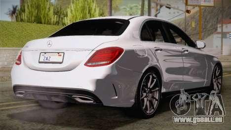 Mercedes-Benz C250 AMG Edition 2014 EU Plate pour GTA San Andreas laissé vue