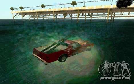 Cars Water pour GTA San Andreas troisième écran