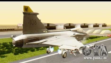 Saab Gripen NG pour GTA San Andreas laissé vue