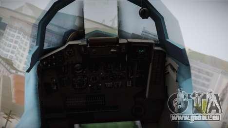 MIG-29 Russian Falcon pour GTA San Andreas vue arrière