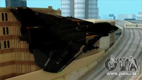 F-14 Black Storm pour GTA San Andreas laissé vue