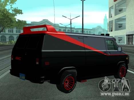 GMC The A-Team Van pour GTA San Andreas laissé vue