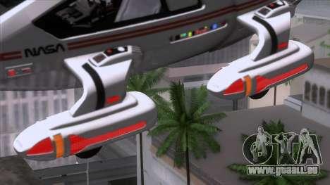 Shuttle v2 Mod 2 für GTA San Andreas zurück linke Ansicht
