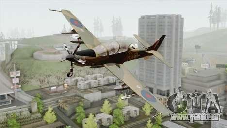 Embraer A-29B Super Tucano RAF für GTA San Andreas