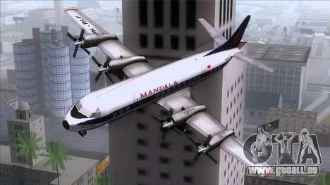 L-188 Electra Mandala Airlines pour GTA San Andreas