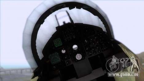 F-15C Camouflage Pack für GTA San Andreas Rückansicht