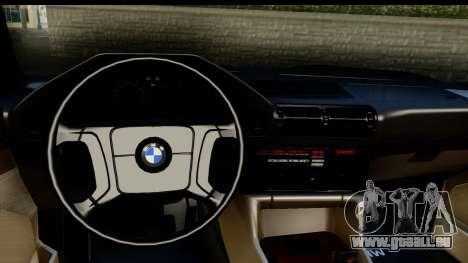 BMW M5 E34 für GTA San Andreas Rückansicht