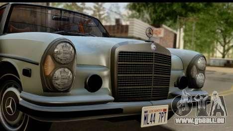 Mercedes-Benz 300 SEL 6.3 (W109) 1967 FIV АПП pour GTA San Andreas sur la vue arrière gauche