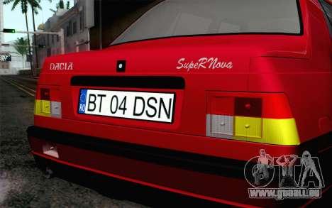 Dacia SuperNova für GTA San Andreas Rückansicht