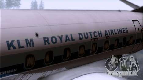 L-188 Electra KLM v2 für GTA San Andreas Rückansicht