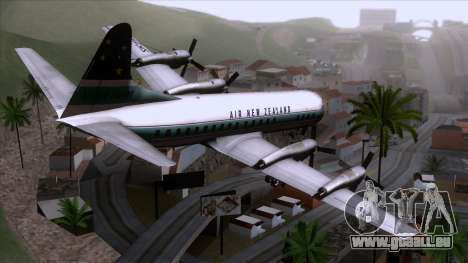 L-188 Electra Air New Zealand für GTA San Andreas linke Ansicht