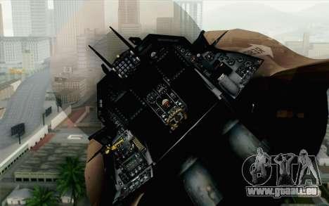F-16C Fighting Falcon NSAWC Brown für GTA San Andreas Rückansicht