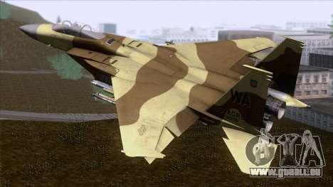 F-15C Camouflage Pack pour GTA San Andreas laissé vue