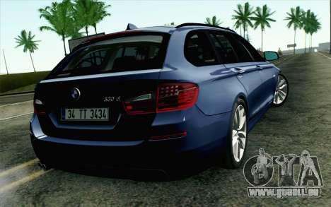 BMW 530d F11 Facelift HQLM pour GTA San Andreas laissé vue