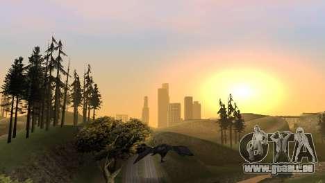 La possibilité de jouer pour les oiseaux v2 pour GTA San Andreas huitième écran