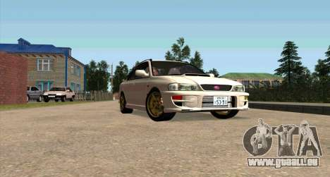 Subaru Impreza Sports Wagon WRX STI pour GTA San Andreas vue intérieure