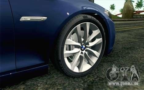 BMW 530d F11 Facelift HQLM pour GTA San Andreas sur la vue arrière gauche