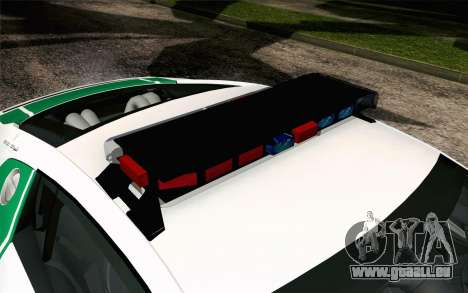 Audi R8 V8 FSI 2014 Dubai Police pour GTA San Andreas vue arrière