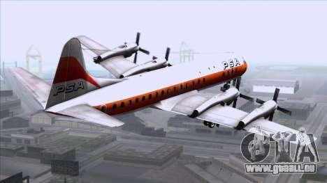 L-188 Electra PSA pour GTA San Andreas laissé vue