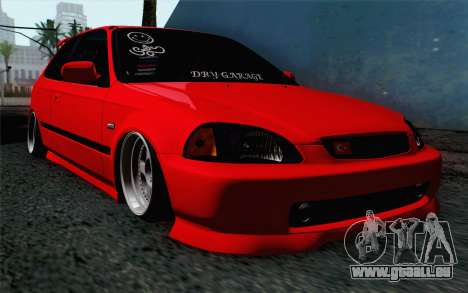 Honda Civic DRY Garage pour GTA San Andreas