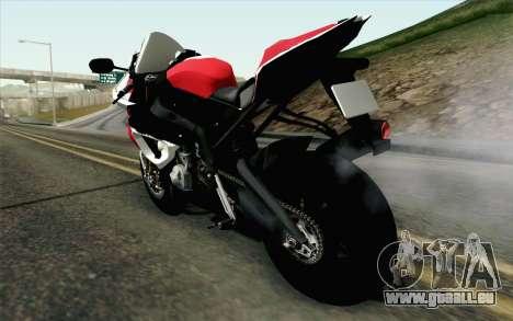 BMW S1000RR HP4 v2 Red pour GTA San Andreas laissé vue