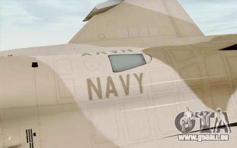 F-16C Fighting Falcon NSAWC Brown für GTA San Andreas rechten Ansicht