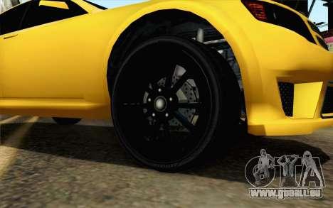 GTA 5 Cheval Fugitif FIV АПП pour GTA San Andreas sur la vue arrière gauche