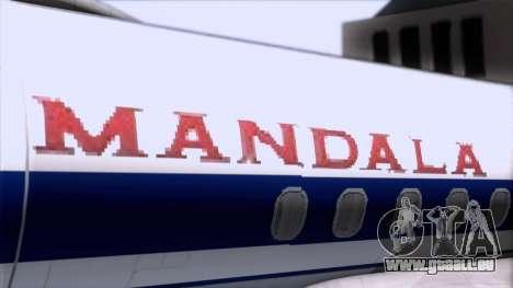 L-188 Electra Mandala Airlines für GTA San Andreas Rückansicht