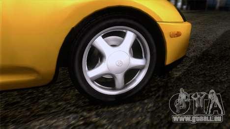 Toyota Supra S-Spec (JZA80) 1993 ÖKO-App für GTA San Andreas zurück linke Ansicht