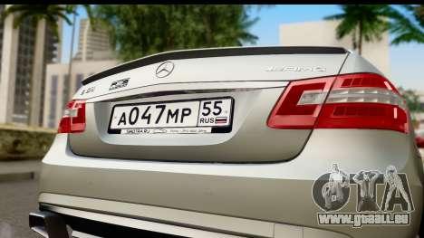 Mercedes-Benz E63 AMG für GTA San Andreas rechten Ansicht