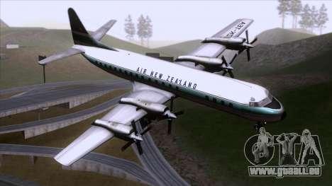 L-188 Electra Air New Zealand für GTA San Andreas