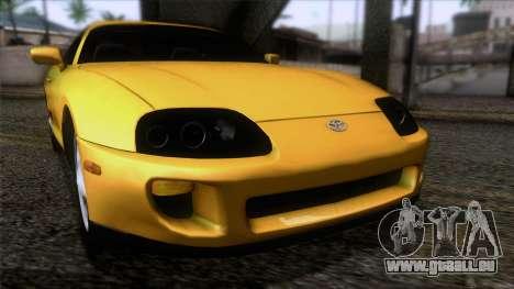 Toyota Supra S-Spec (JZA80) 1993 ÖKO-App für GTA San Andreas Rückansicht
