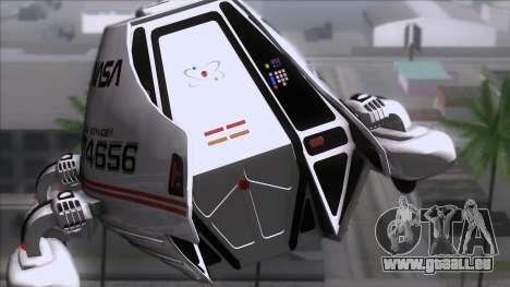 Shuttle v2 Mod 2 für GTA San Andreas Rückansicht